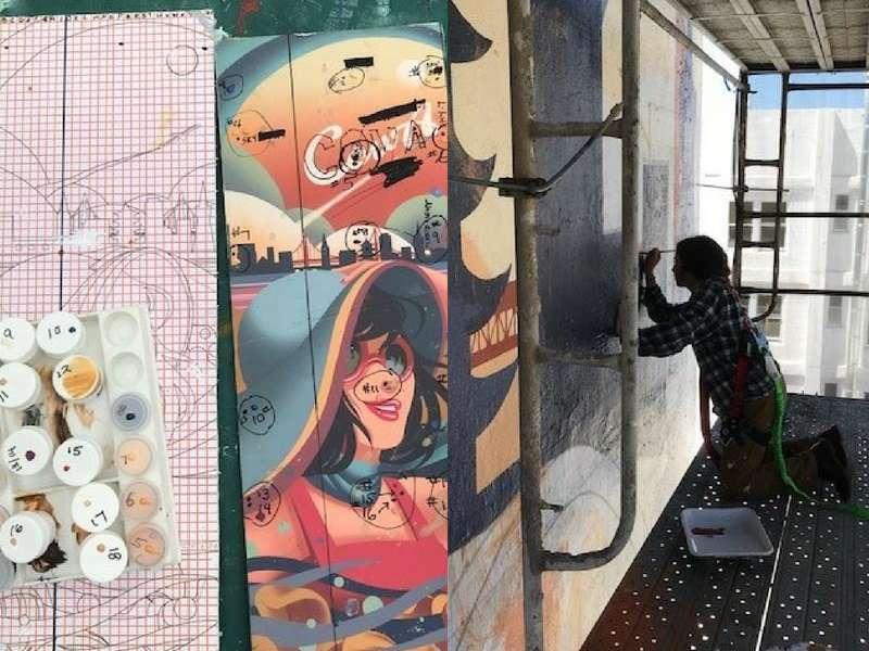 Academy of Art University Student Painting Mural