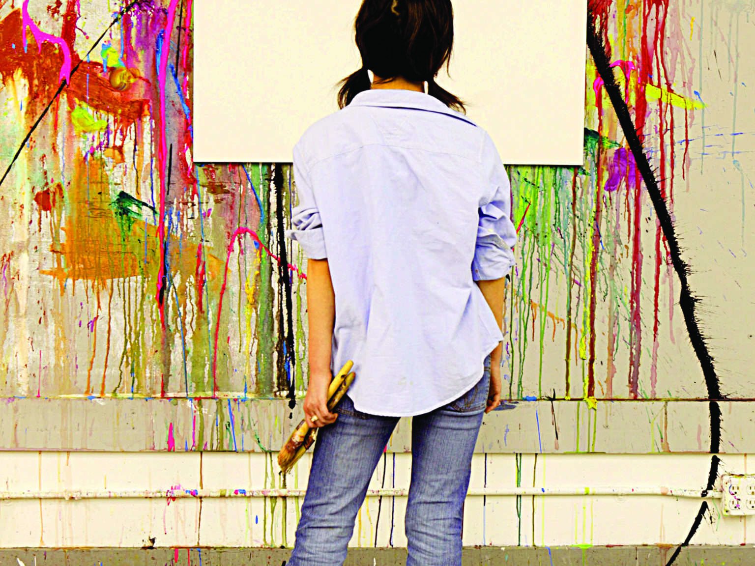 Girl with Blank Canvas