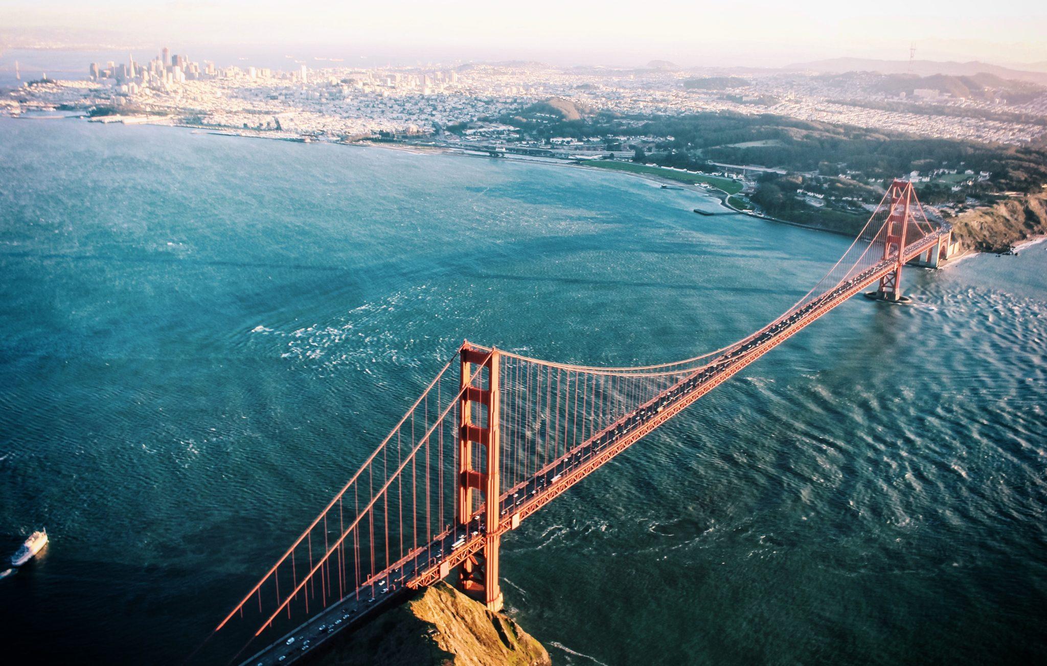 San Francisco Bay Area Aerial View