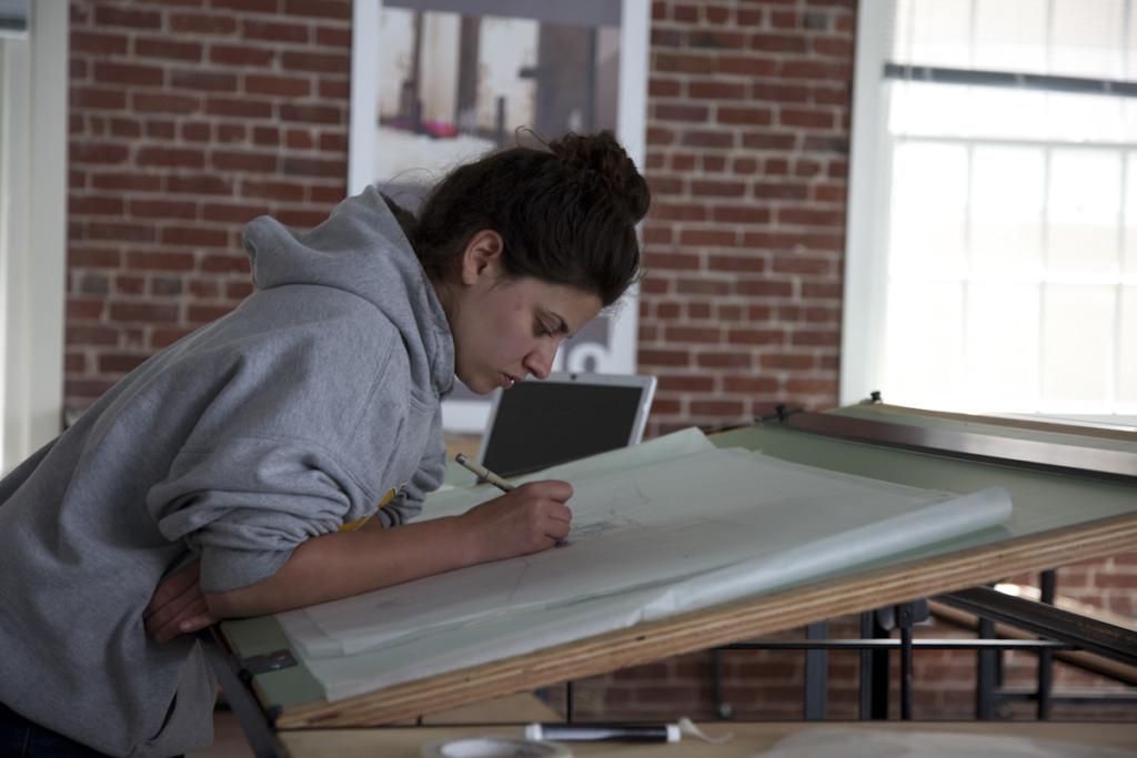 student drafting