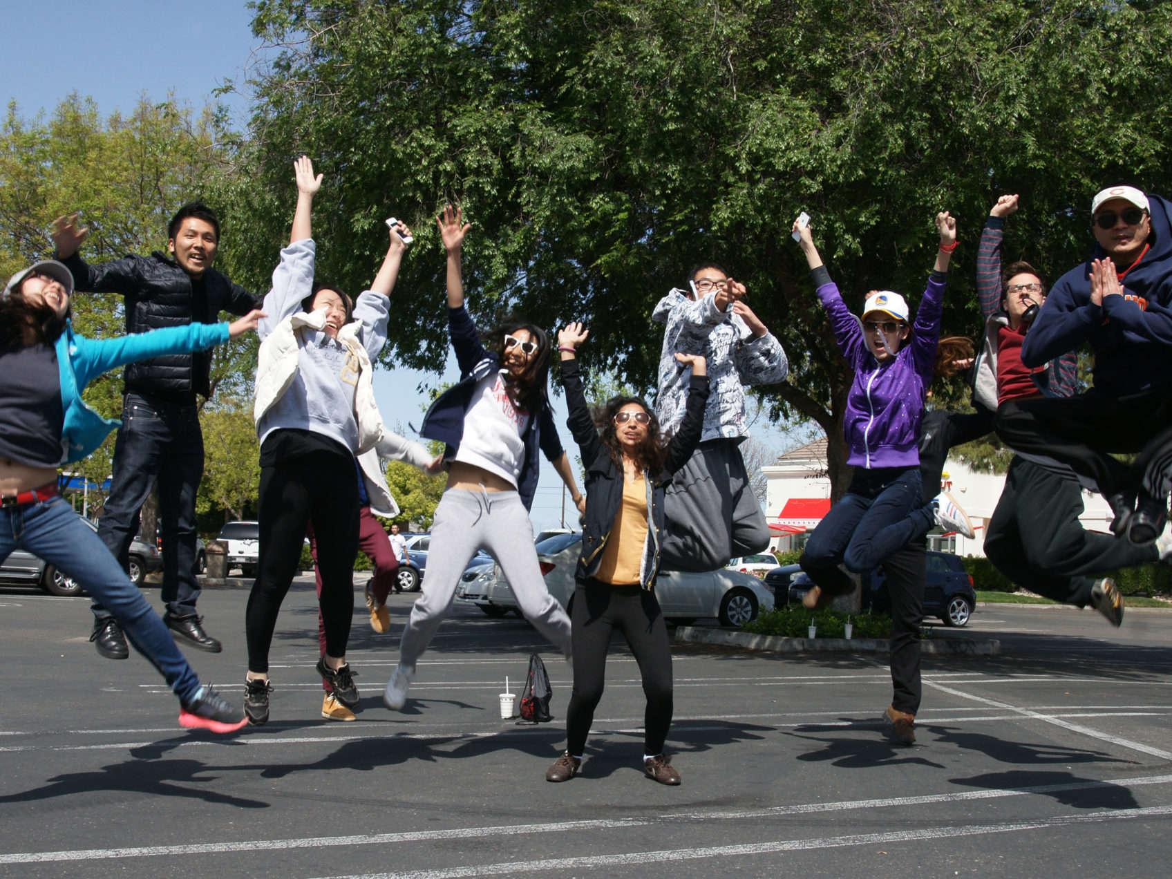 students jump shot