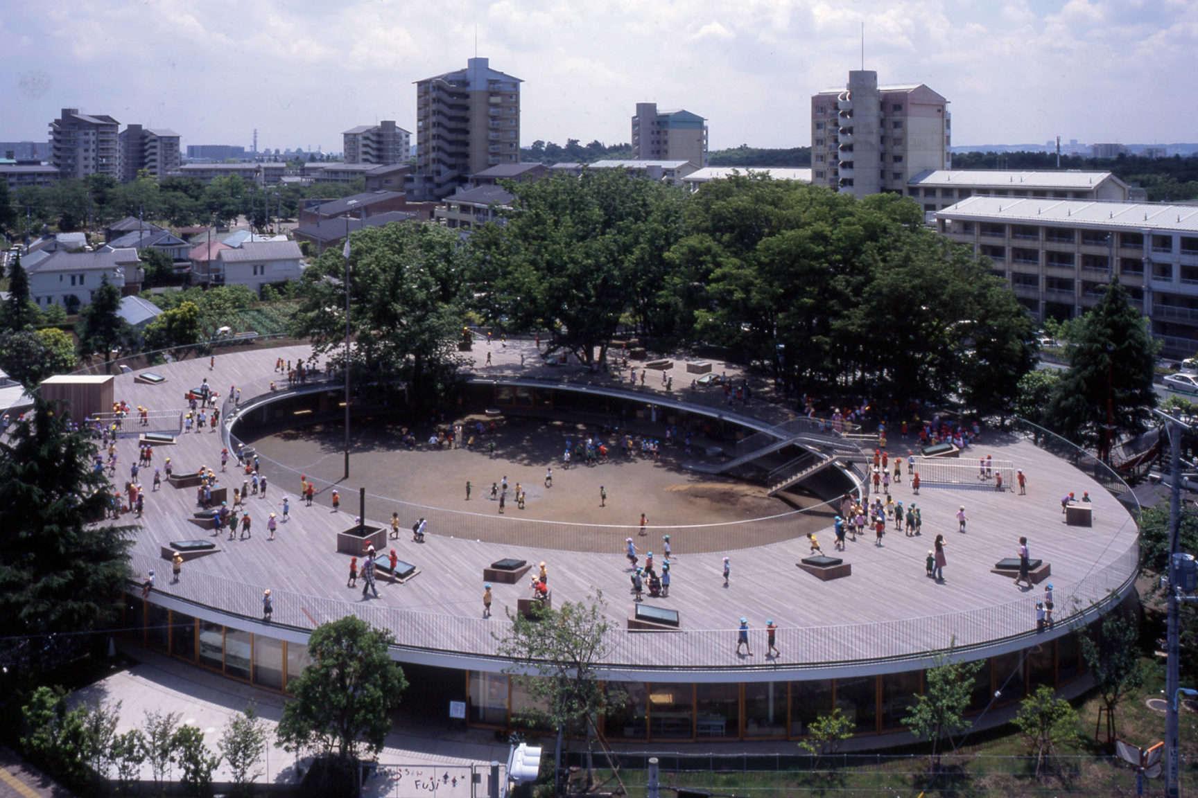 Fuji Kindergarten Roof Deck by Tezuka Architects