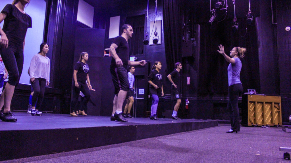 acting students rehearsing