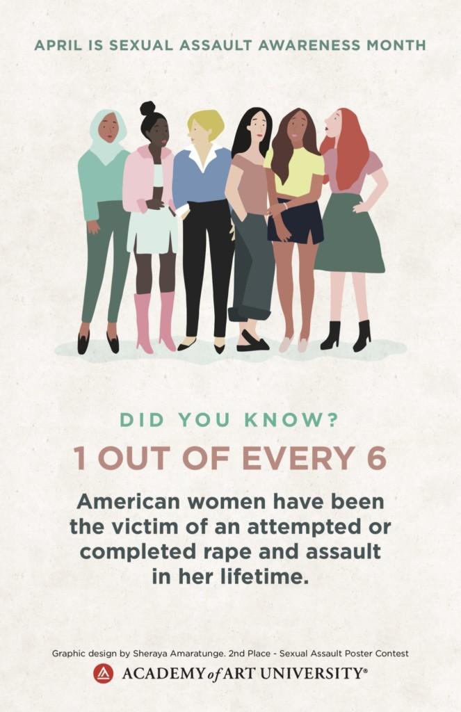 Sexual Assault Awareness Month Poster by Sheraya Amaratunge