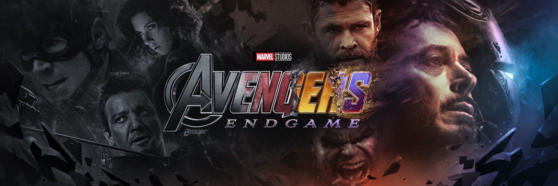 Marvel superhero headshots from left to right: Captain America, Hawkeye, Black Widow, Thor, Hulk, Tony Stark
