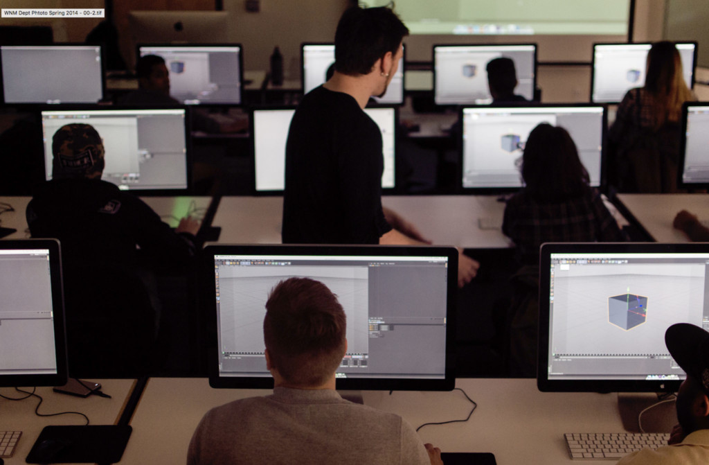 Academy students in computer lab
