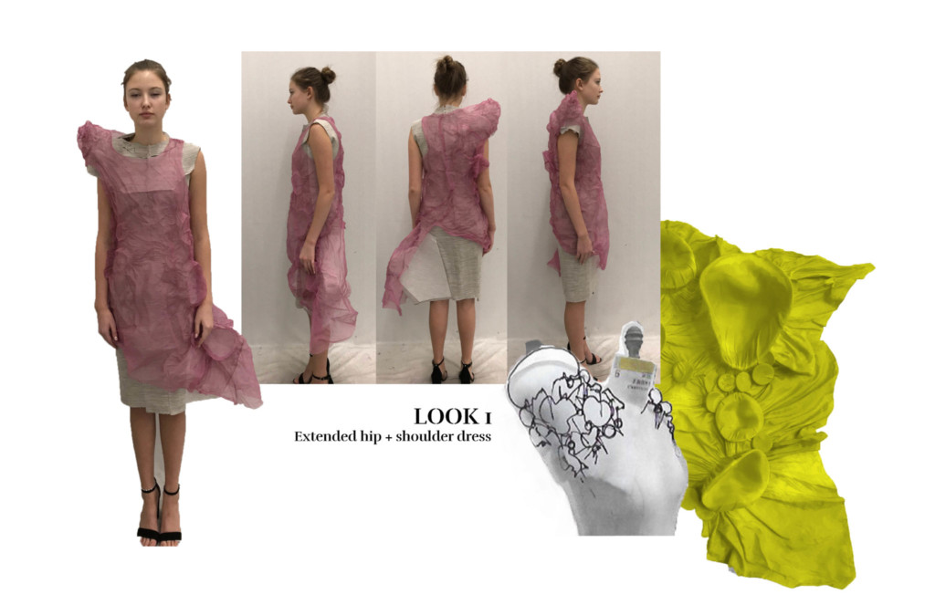 Shoulder dress concept by Anna Yepes Tucker