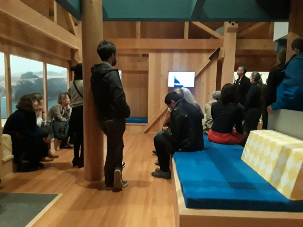 Sea Ranch living room - actual scale model