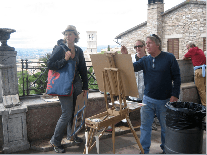 study abroad Italy group painting