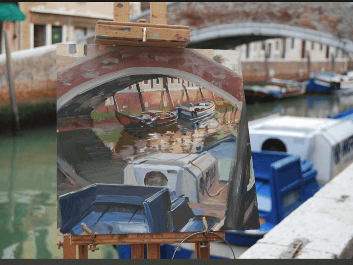 study abroad Canal of Venice painting