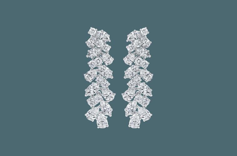 Drop diamond earrings by Harry Winston