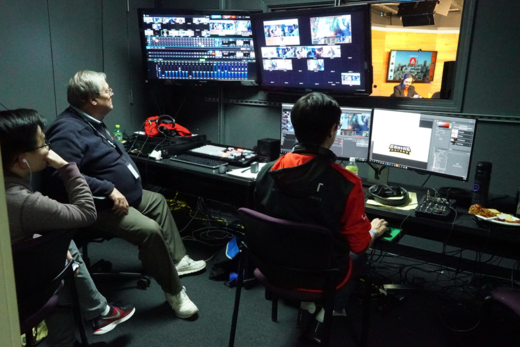 Behind-the-scenes video recording and editing for an E-Sports tournament