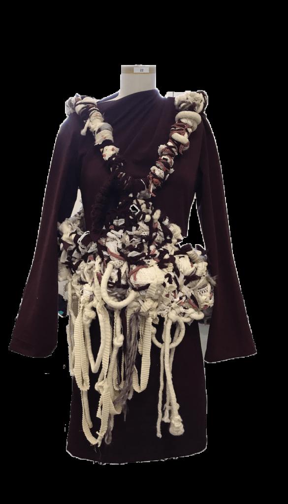 Closeup of knitted dress