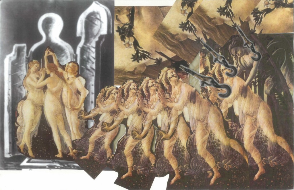 A moodboard featuring Renaissance images and hooks