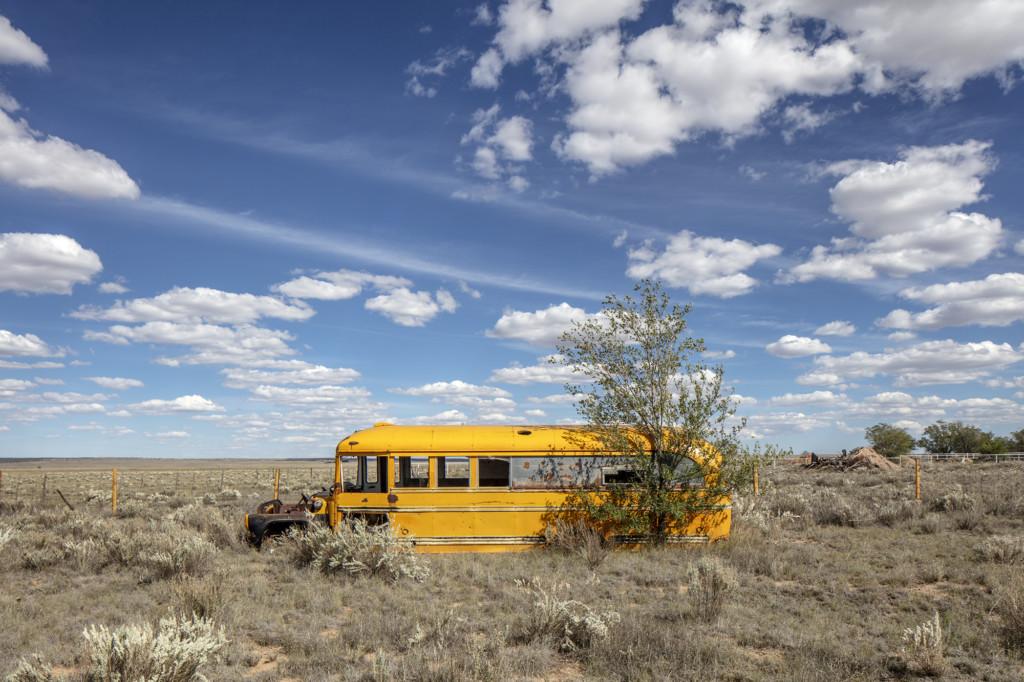 School Bus, Encino, New Mexico by Brian K. Edwards