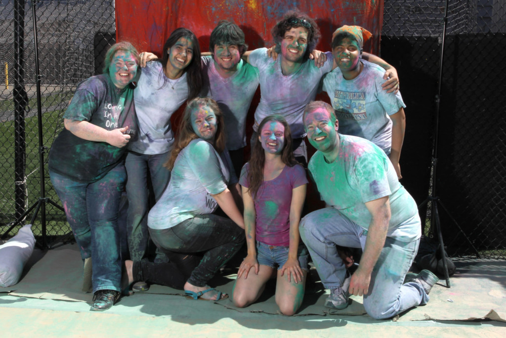 Academy students in color run