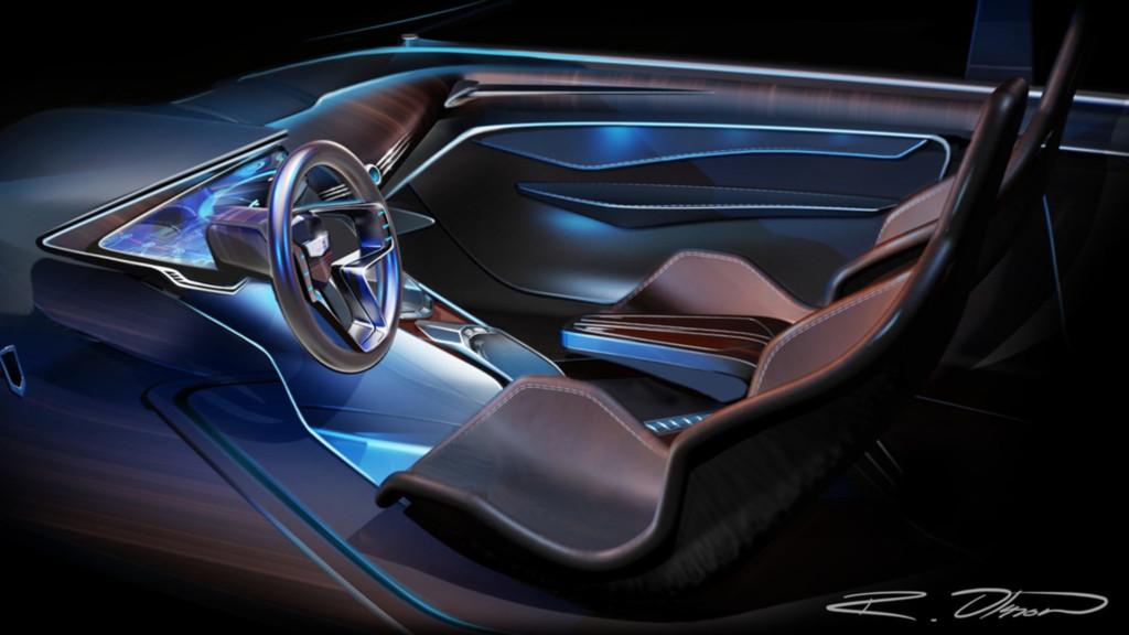 Car dashboard design by Industrial Design BFA Ryan Olsson