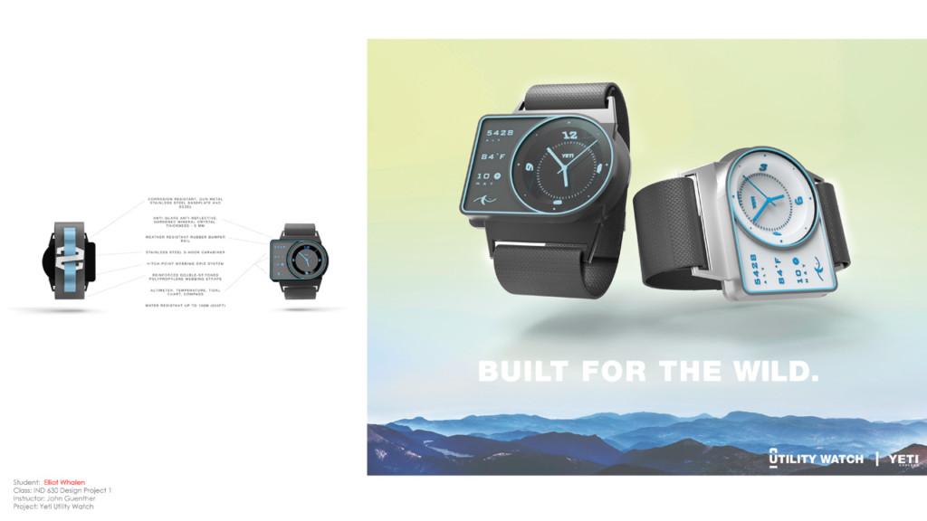 Two watch designs by Industrial Design MFA Elliot Whalen