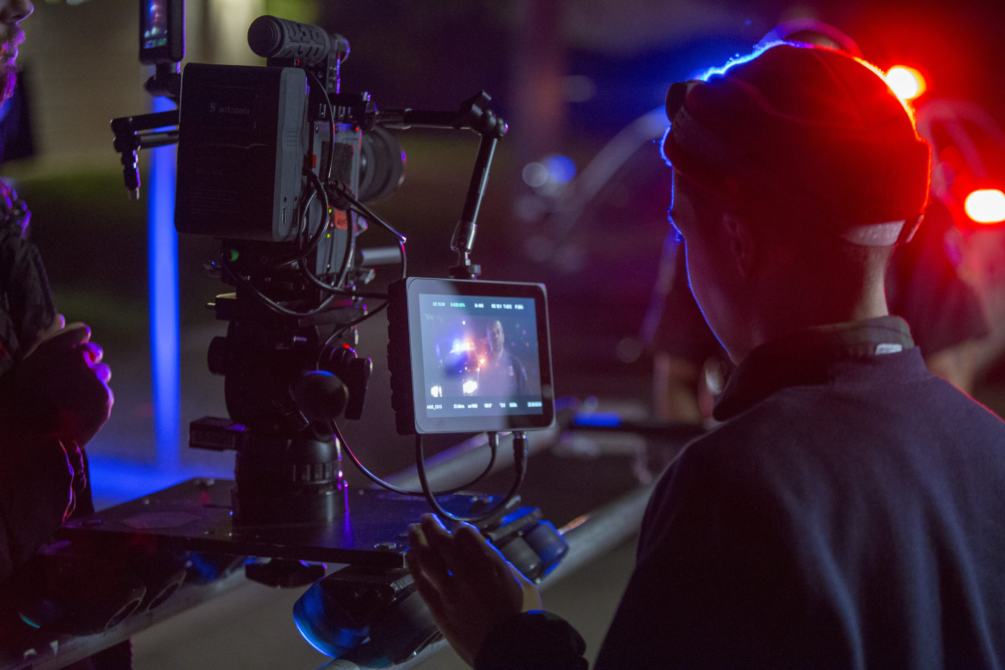 film school students on set