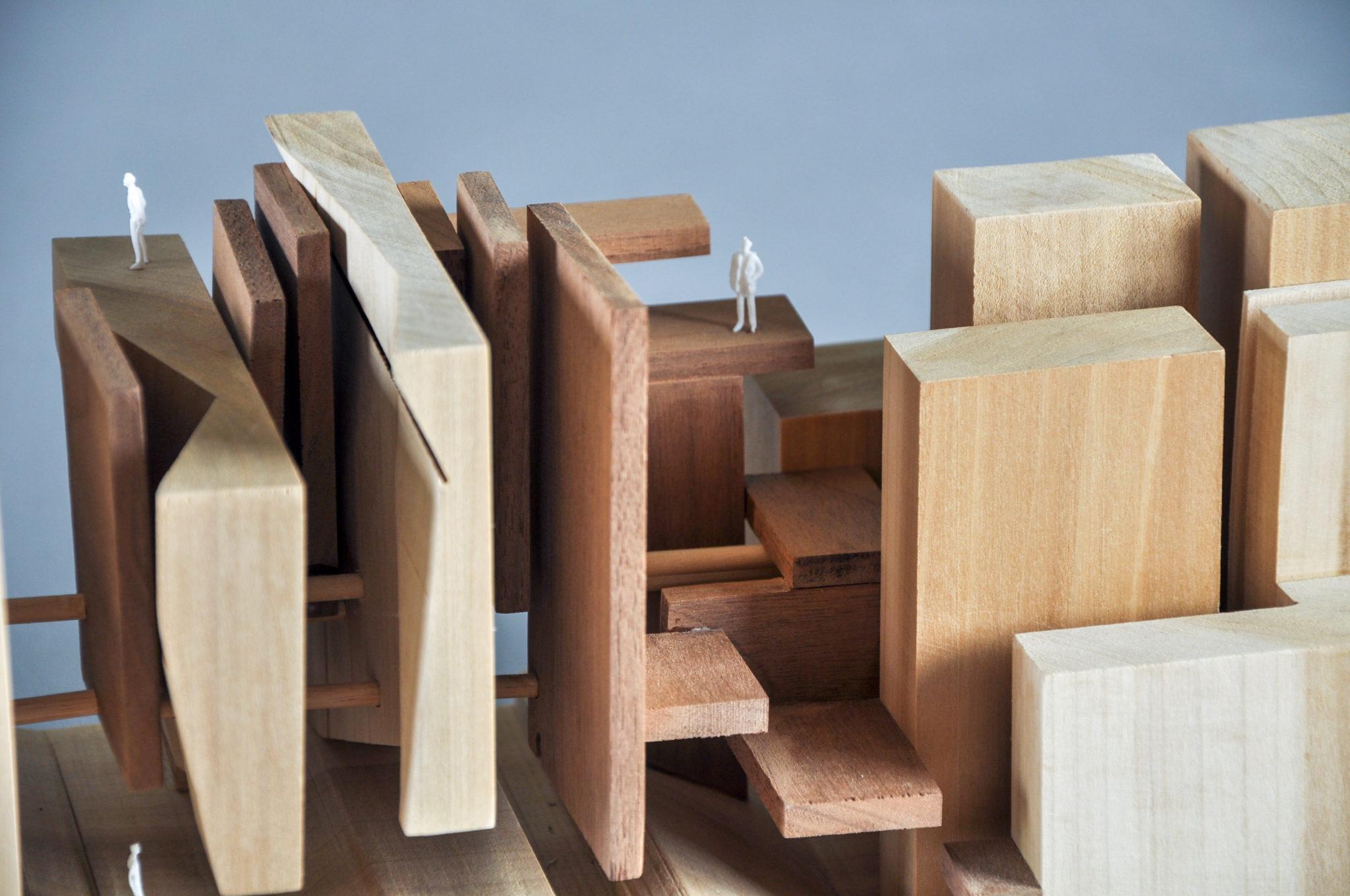 Architectural scale model by Meng Fan
