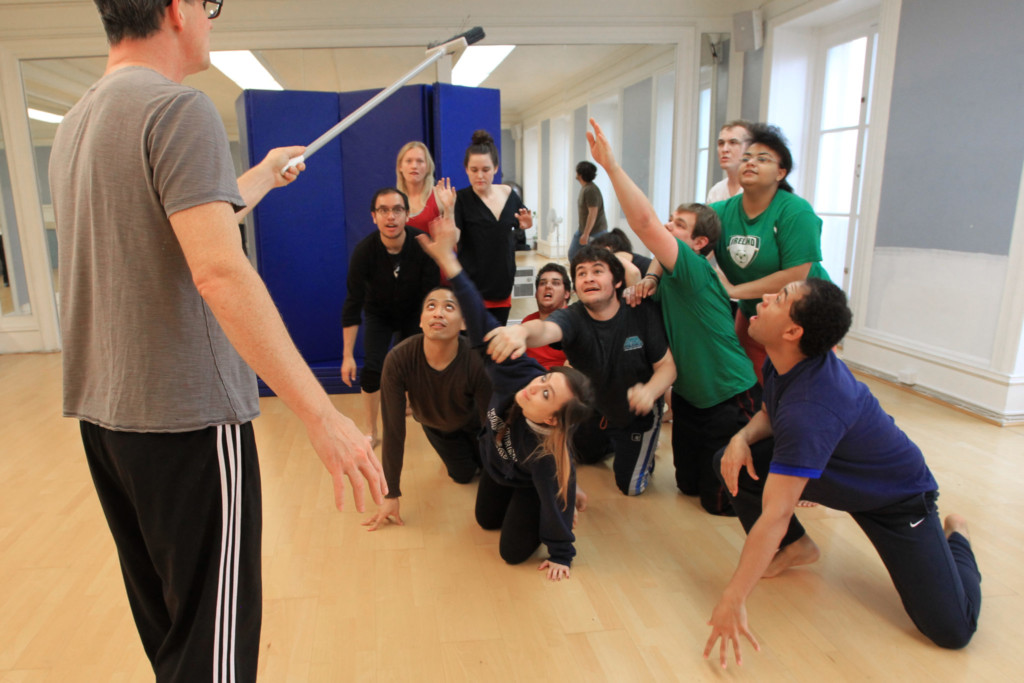blocking and choreography in acting class