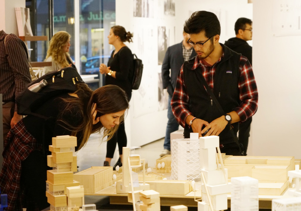 school of architecture student with scale models