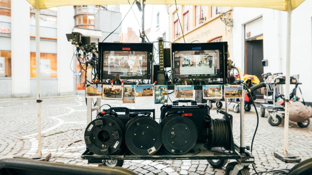 on location film set