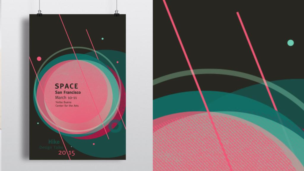 Poster design by MFA student Emilie Garnier