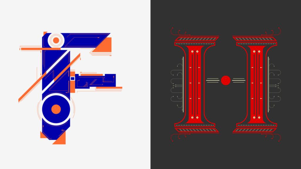 Typography design by MFA student Juan Manuel Corredor