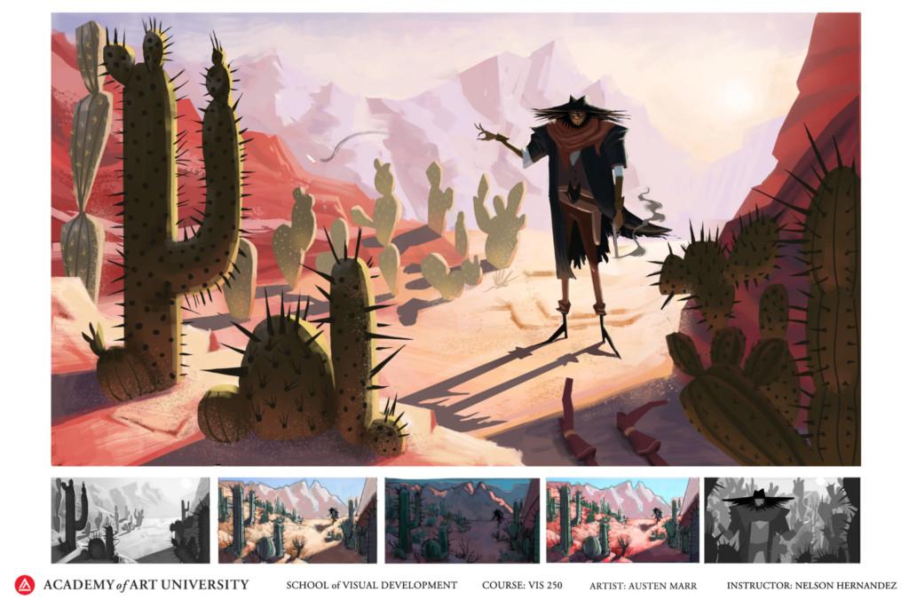 Desert scene by BFA student Austen Marr