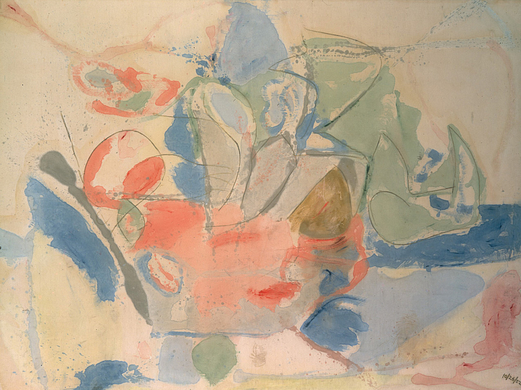 Mountains and Sea (1952) by Helen Frankenthaler