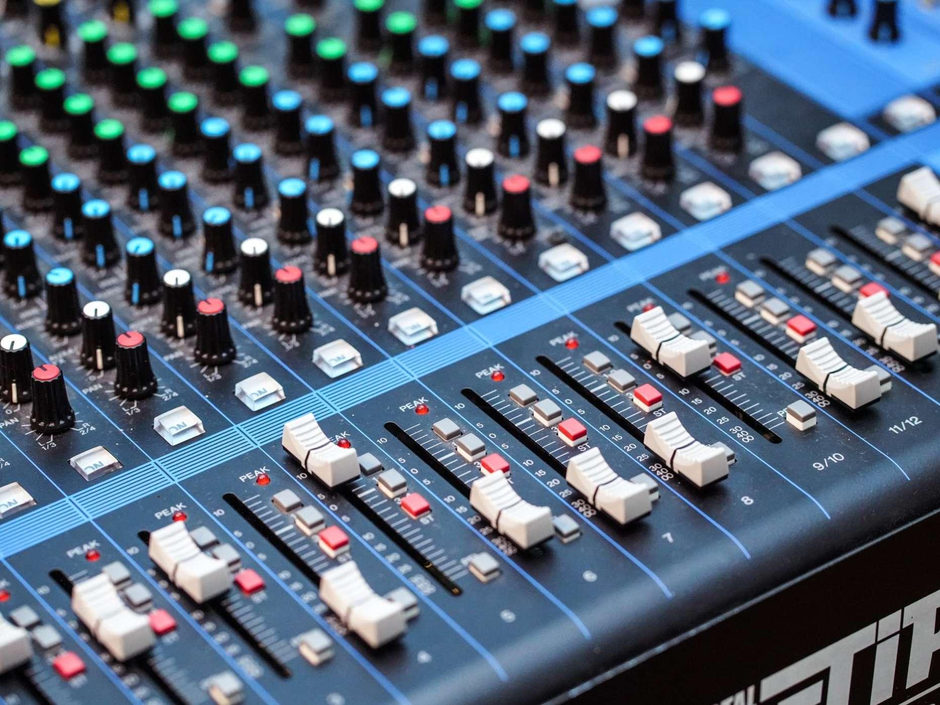 Image of Audio Mixer Board