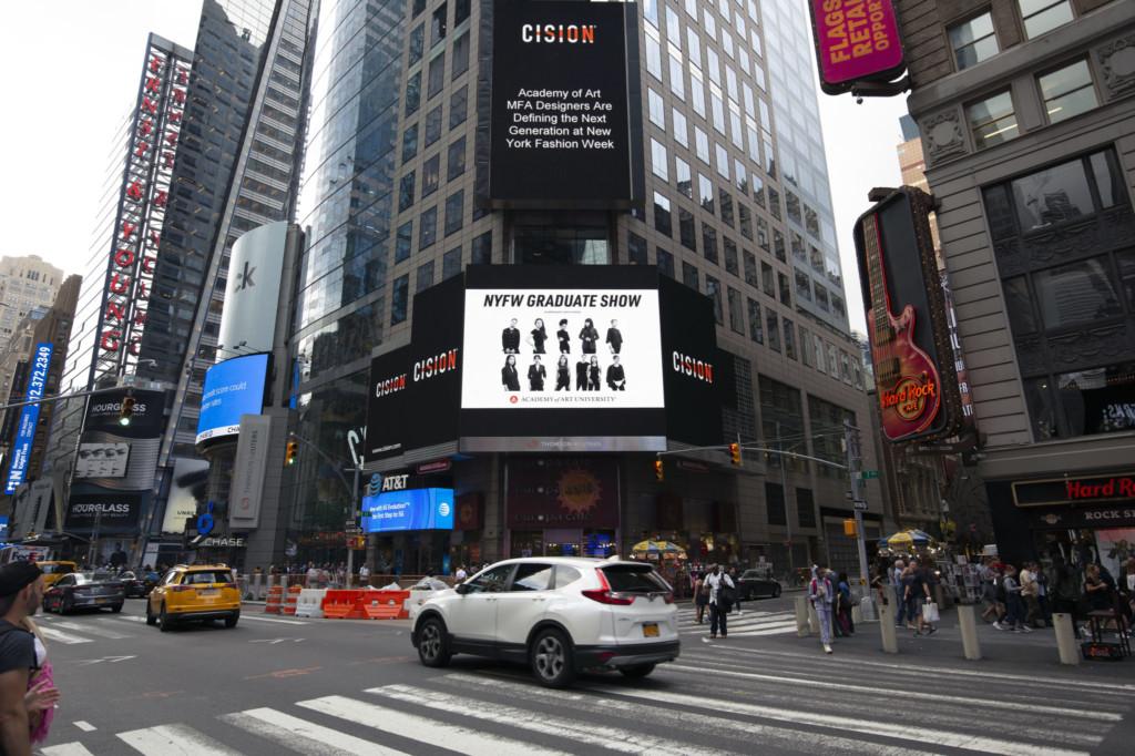 NYFW Graduate Show Times Square Ad