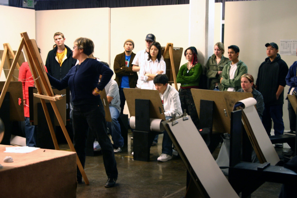 art teach in class