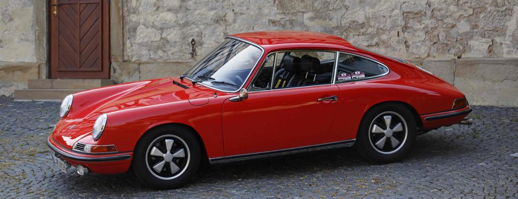 Image of red Porsche