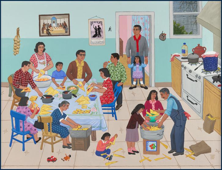 Painting by Carmen Lomas Garza