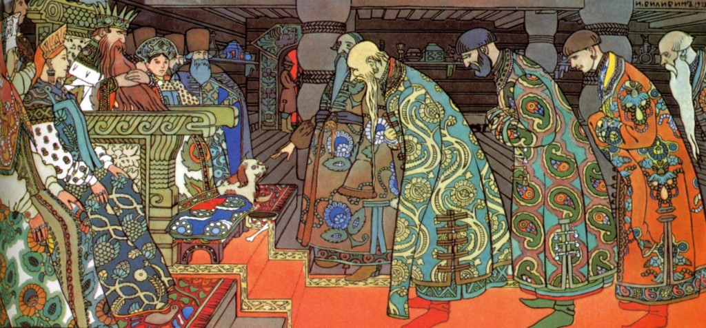 The Merchants Visit Tsar Saltan by Ivan Bilbin