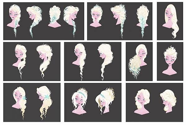 Elsa Hair Design 1 by Brittney Lee