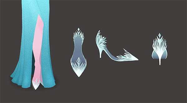 Elsa Shoe Design by Brittney Lee