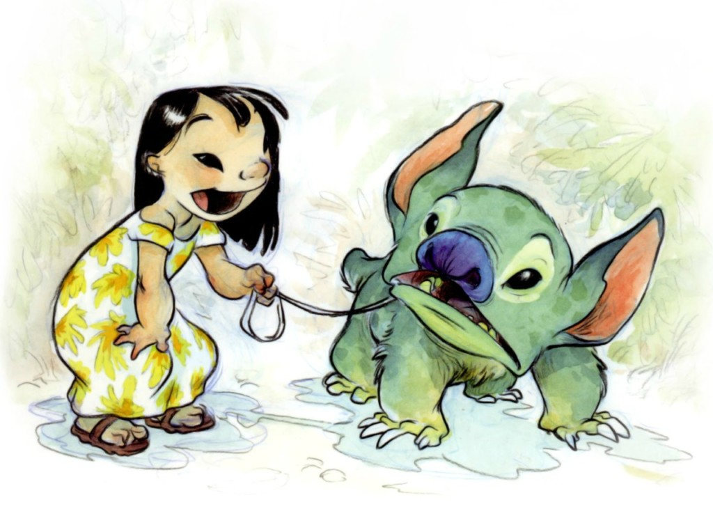 Lilo and Stitch Concept Art by Chris Sanders