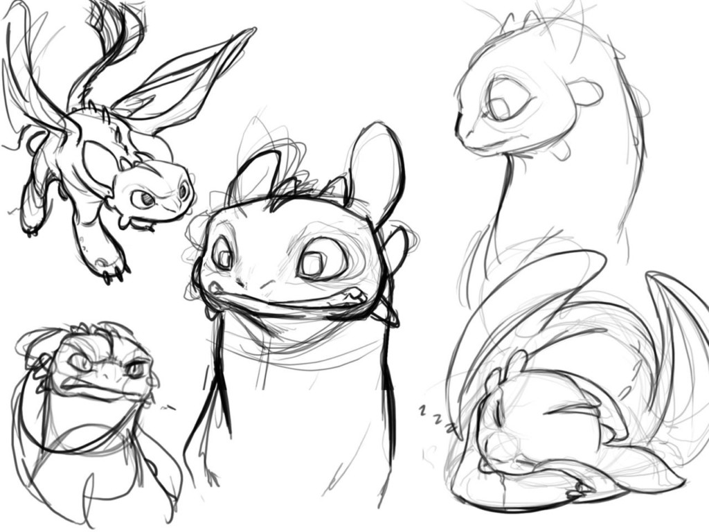 Toothless Concept Art by Chris Sanders