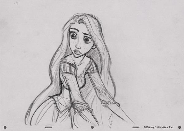 Rapunzel Concept Art by Glen Keane