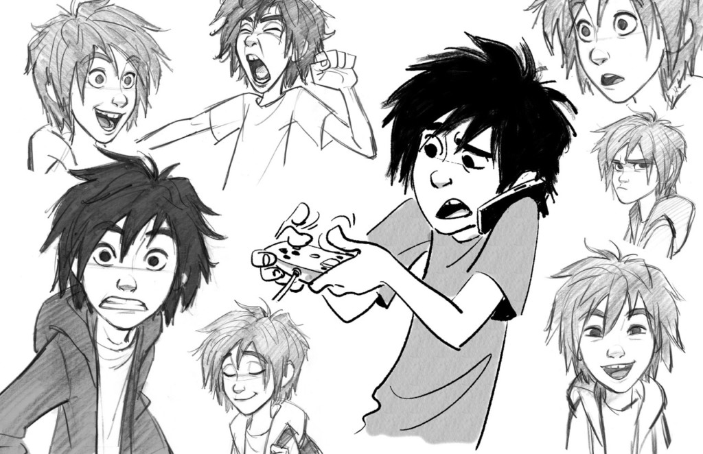 Hiro Character Expressions by Jin Kim