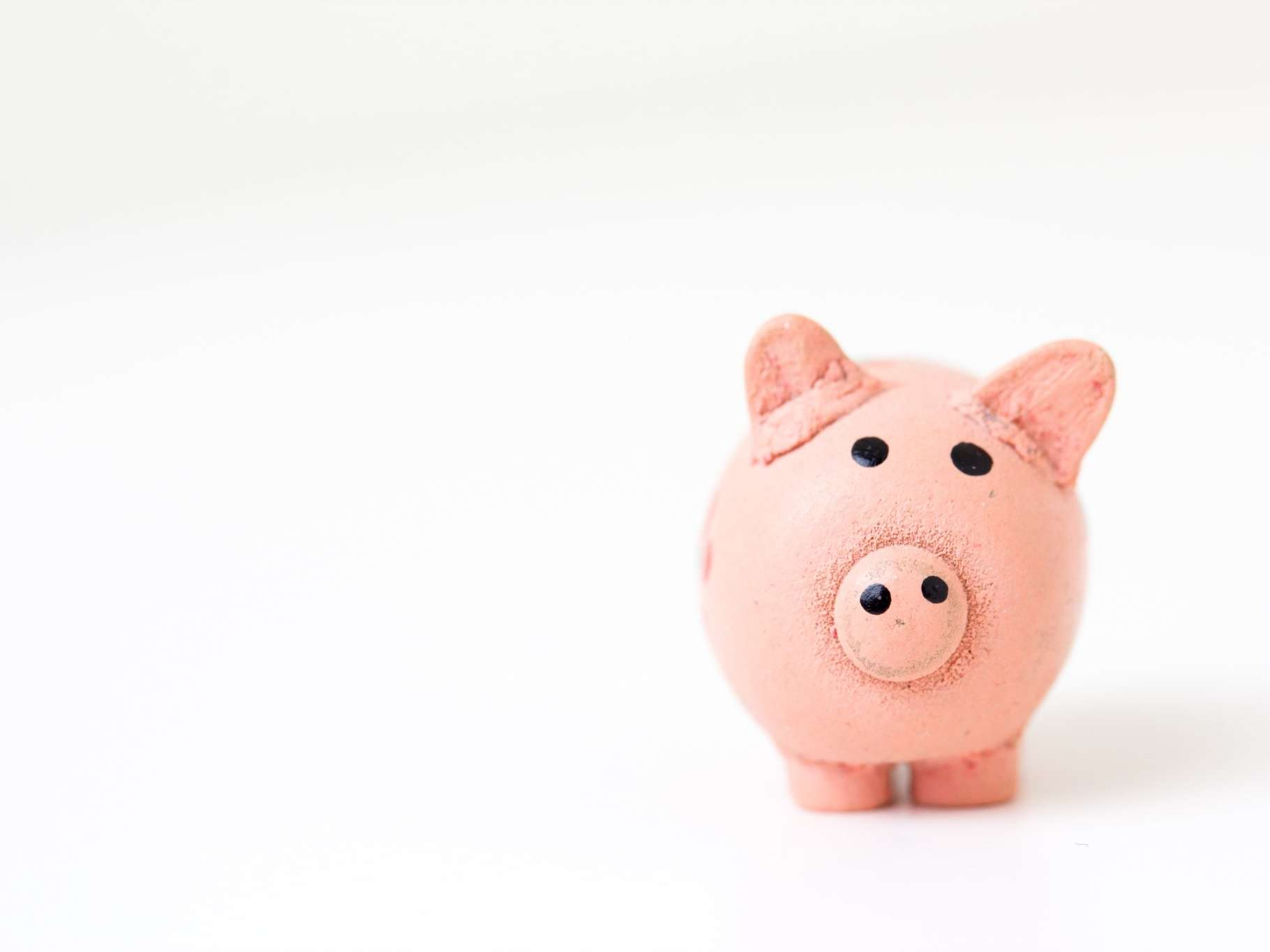 a piggy bank on a white background