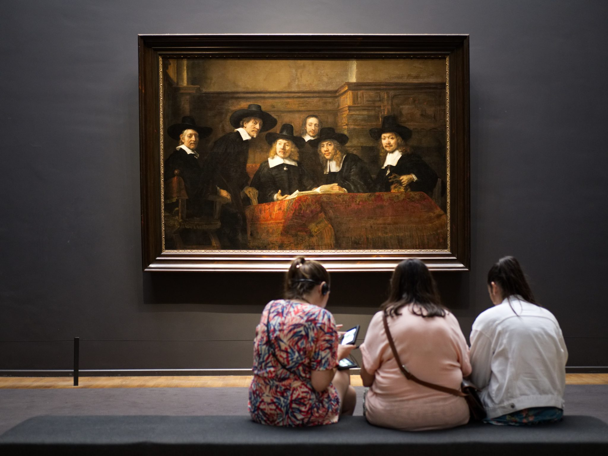 Girls in a Museum