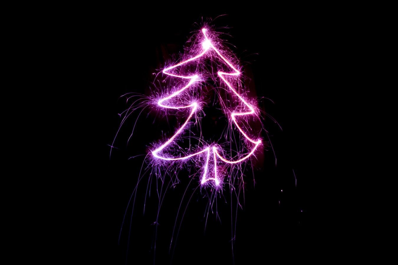 Christmas Tree Purple