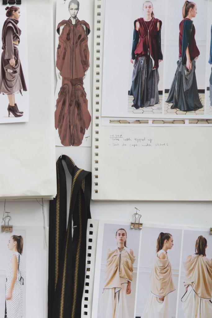 Design boards by Academy Fashion student Hanbit Ku
