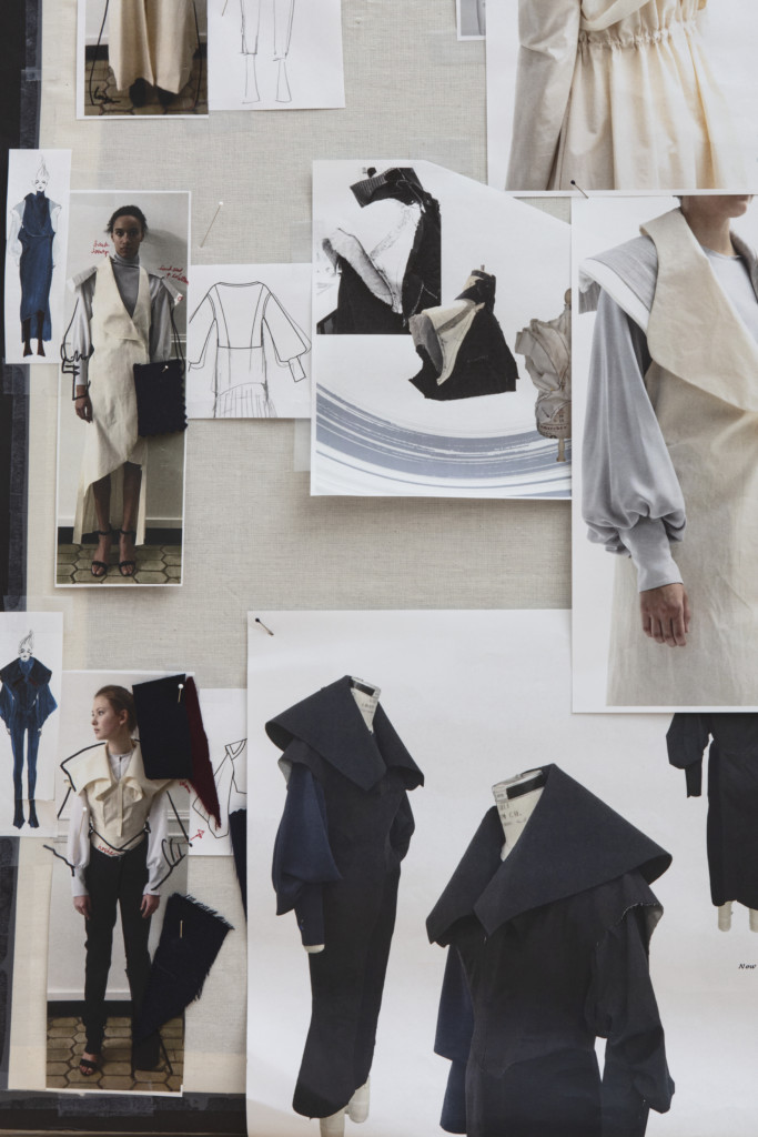 Design boards by Academy Fashion students Yue Shen and Mingyang Zhang