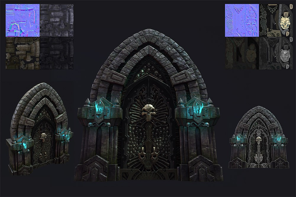 Fan art of the Darksiders franchise by Game Development MFA student Hyun Min Kim