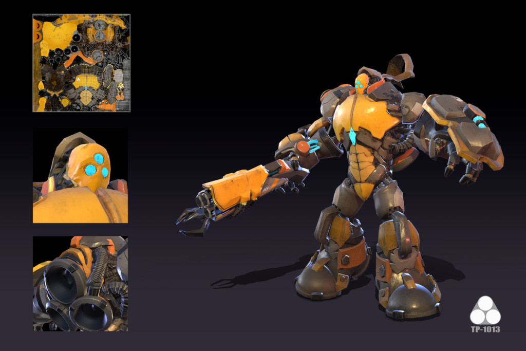Robot suit design by Game Development MFA student Tianyi Zhao